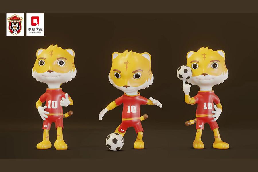 IP形象--辽宁城市足球队卡通形象设计网站建设制作设计